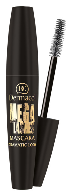 Dermacol - Mega Lashes Dramatic Look Mascara - Riasenka pre dramatický objem a natočenie rias - 13 ml