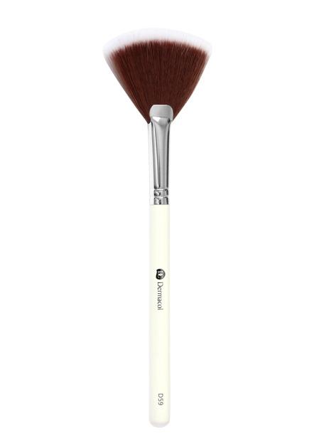 Levně Dermacol - D59 Cosmetic Brush Fan Brush with case - Oprašující štětec s pouzdrem -
