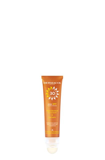 Dermacol - SUN Water Resistant Cream and Lip Balm SPF 30 - SUN Pleťový krém na opalování s balzámem na rty SPF 30 - 30 ml + 3,2g