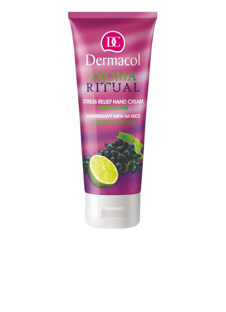 Dermacol - Aroma Ritual Hand Cream Grape & Lime - Antistresový krém na ruky - hrozno s limetkou - 100 ml