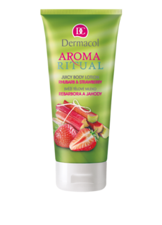 Aroma Ritual body lotion rhubarb and strawberry