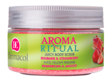 Aroma Ritual body scrub rhubarb and strawberry