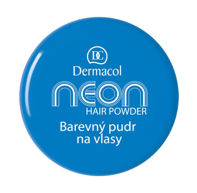 Dermacol - Neon hair powder no.5 blue - Barevný pudr na vlasy č.5 modrý - 2,2 g