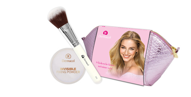 Invisible fixing powder and brush