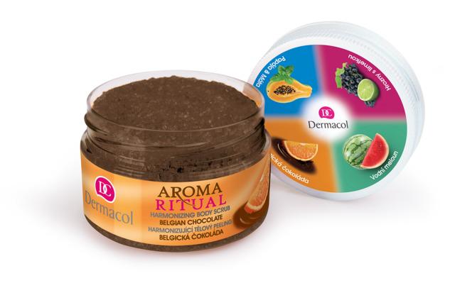 Dermacol - Aroma Ritual Body Scrub Belgian Chocolate - harmonizující tělový peeling - belgická čokol
