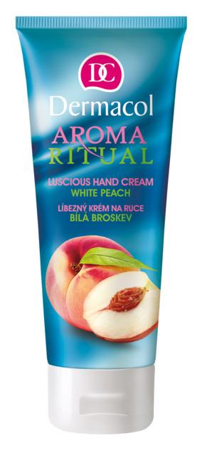 Dermacol - Aroma Ritual Hand Cream White Peach - Ľúbezný KRÉM NA RUKY -