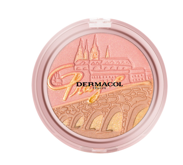 Bronzing and highlighting powder with blush