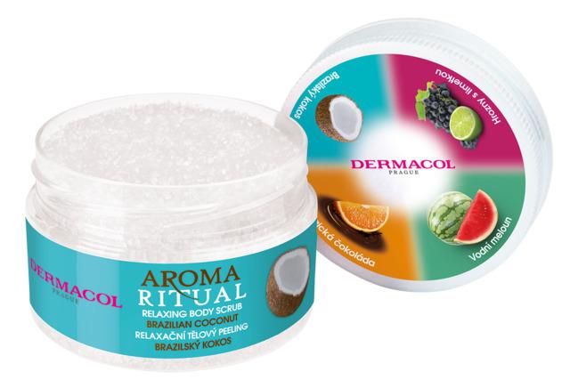 Dermacol - Aroma Ritual relaxing body scrub brazilian coconut - Tělový peeling - brazilský kokos -